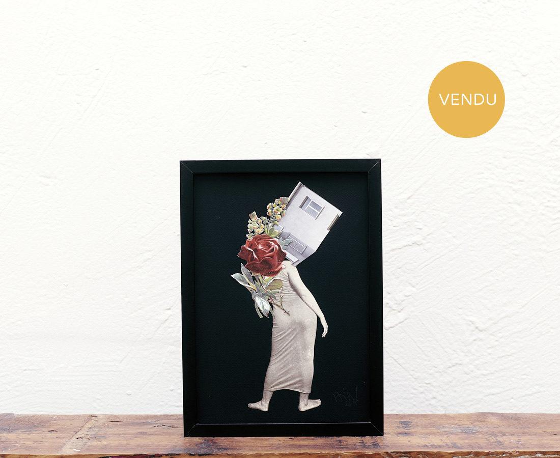Anne- Laure Maison, Collage Déhanché fleuri