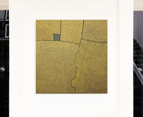 Tableau - Marjolaine de La Chapelle - Grand jaune avec carré gris