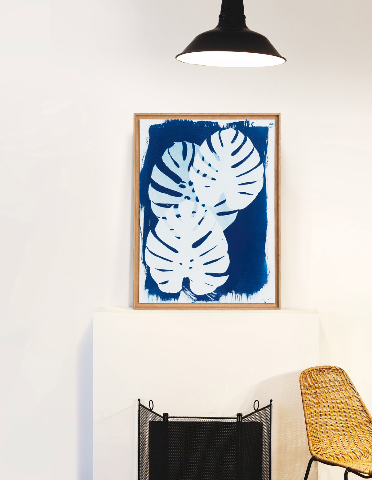 Philodendron - cyanotype - Invincible Été