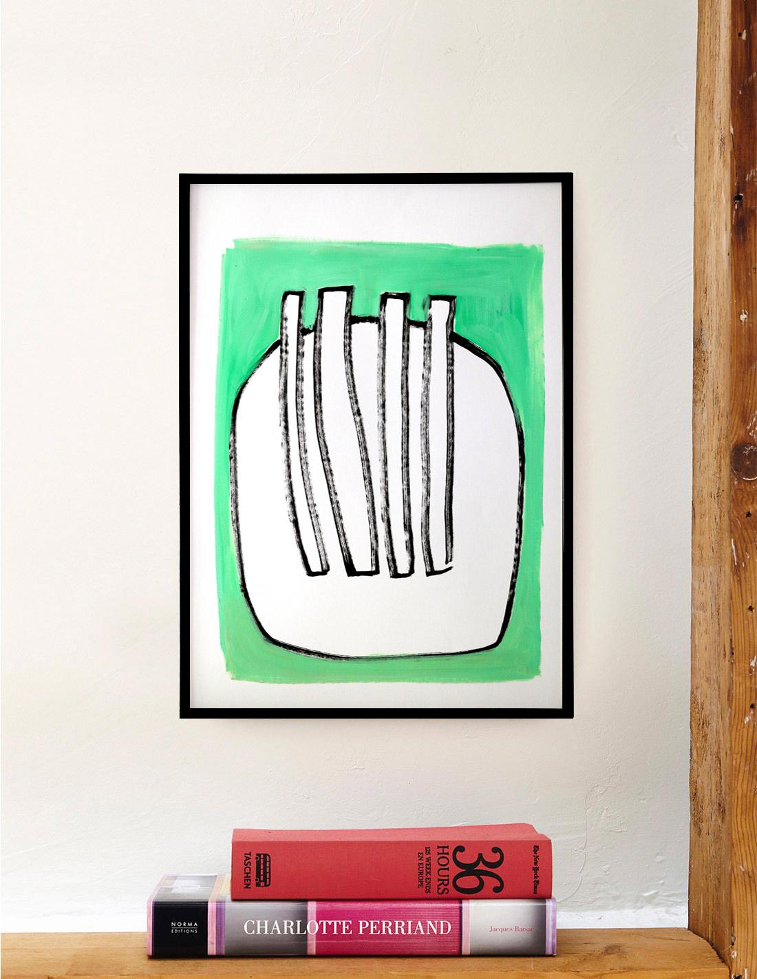 Oeuvre sur papier - Virginie Hucher - Absinthe