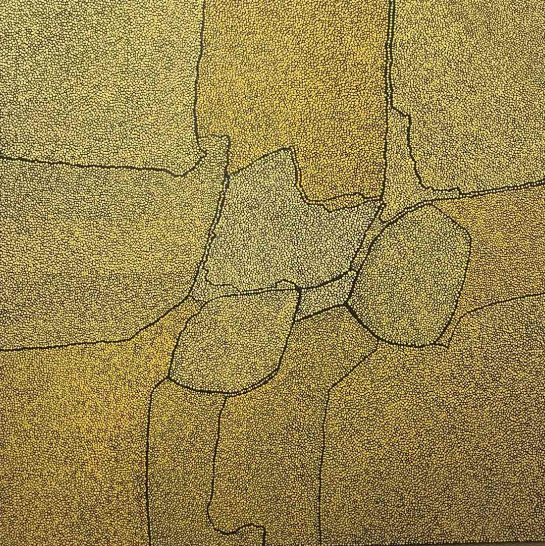 Sans titre grand jaune - Tableau - Marjolaine de La Chapelle