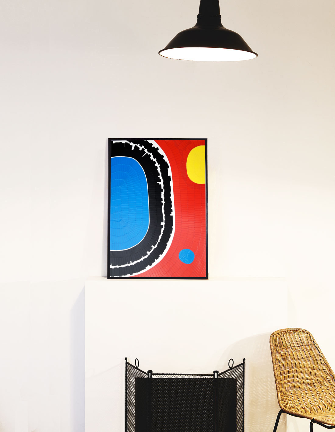 Oeuvre sur papier - Marc Dutilleul - Au bord de la piscine