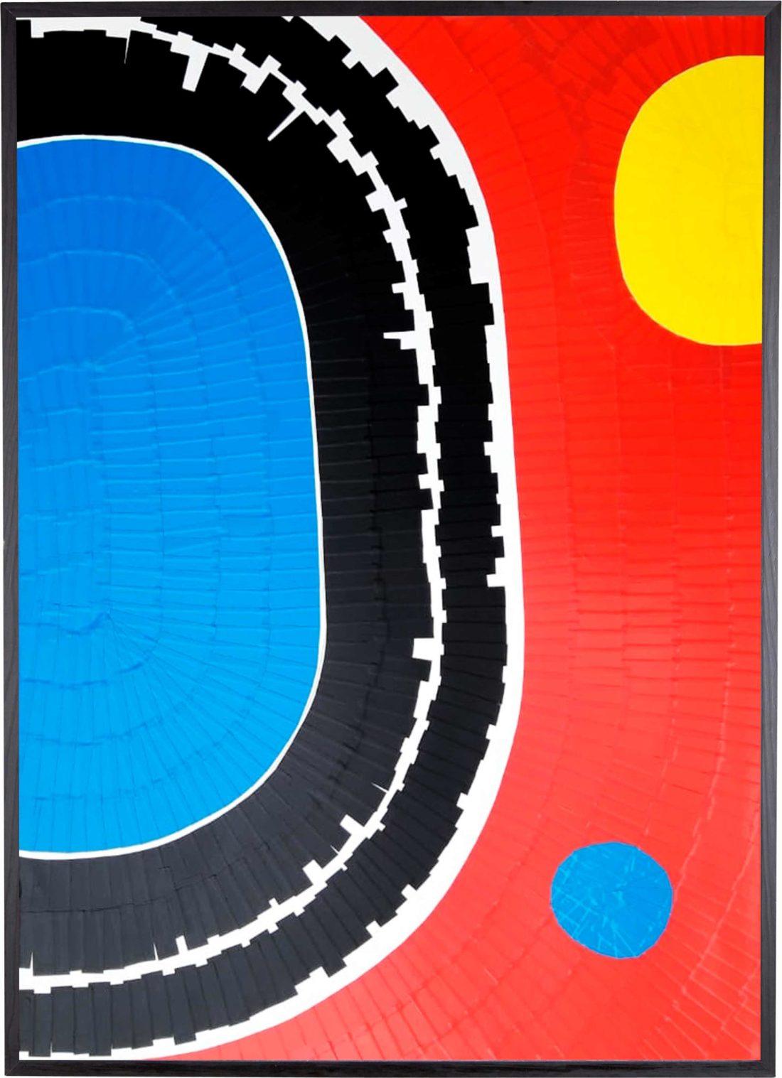 Oeuvre sur papie - Marc Dutilleul - Au bord de la piscine