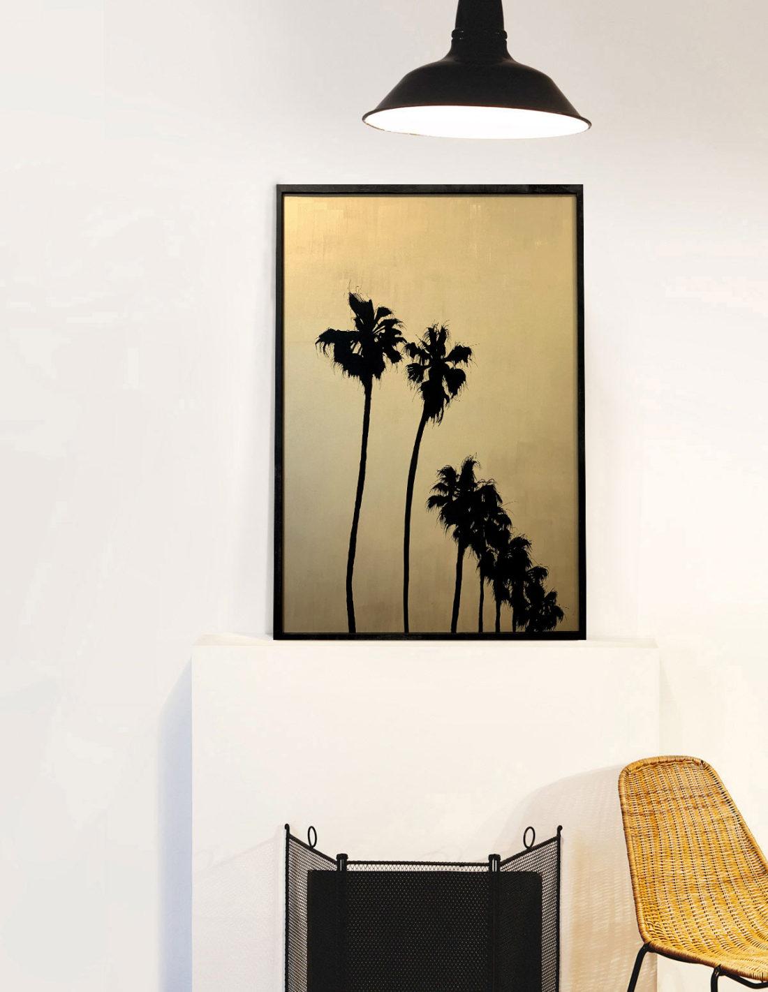 Grands palmtrees IV - Tableau- Hubert Jouzeau