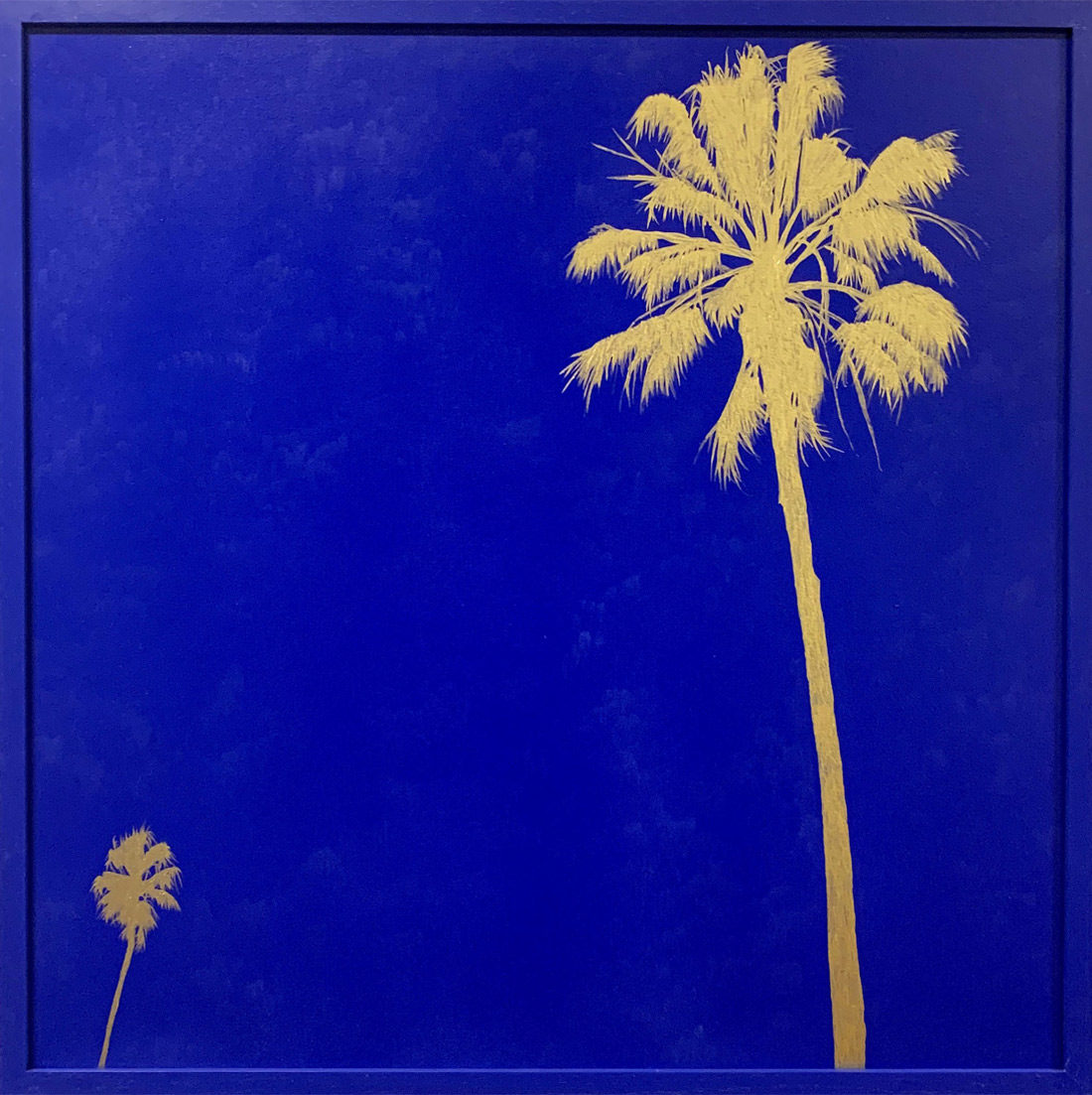 Grands palmtrees III bleu - Tableau- Hubert Jouzeau
