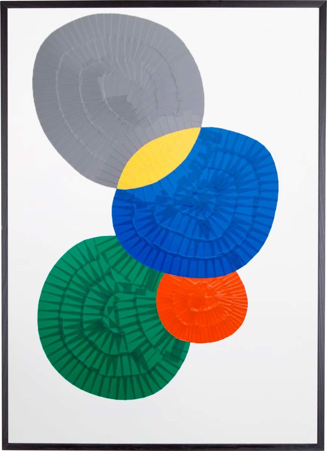 Oeuvre sur papier - Marc Dutilleul - Les galets de Golf-Juan
