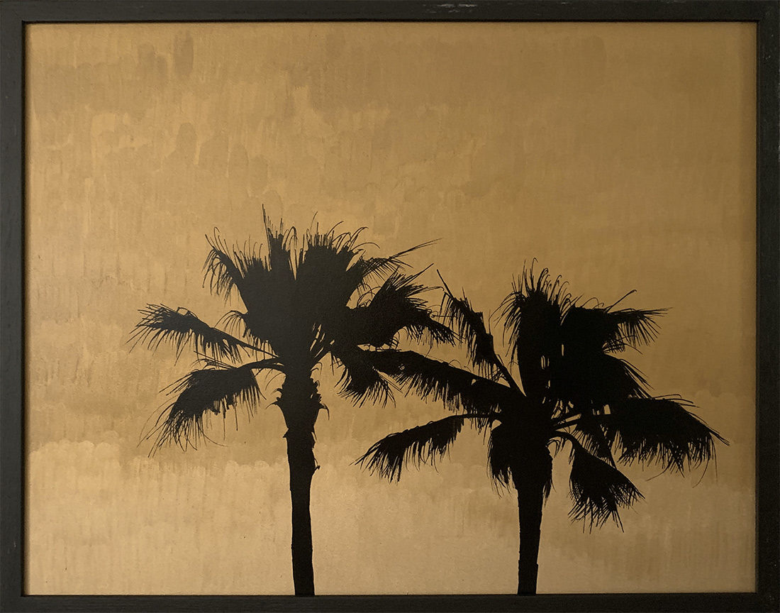 Moyens palmtrees - Tableau- Hubert Jouzeau