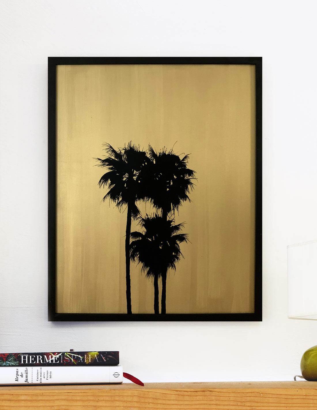 Moyens palmtrees VI - Tableau- Hubert Jouzeau