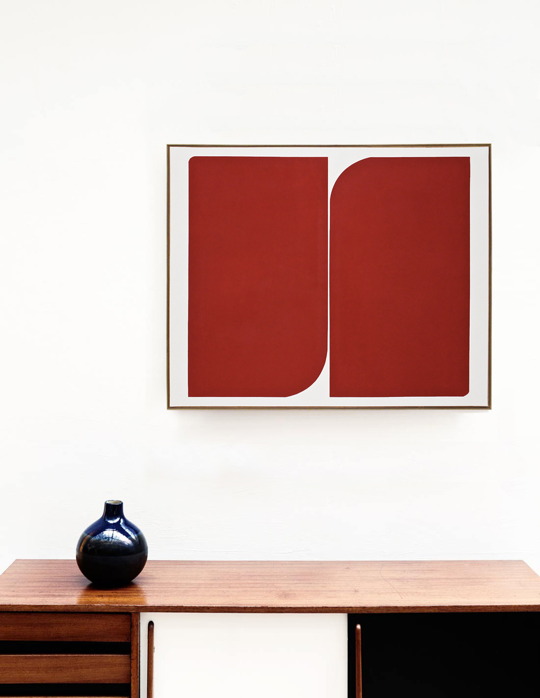 Tableau - Audrey Noël - Sans titre (formes rouges)