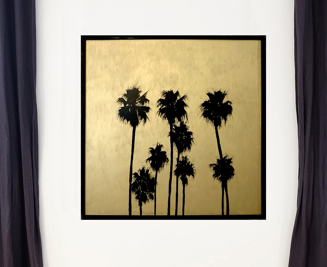 Grands palmtrees II - Tableau- Hubert Jouzeau