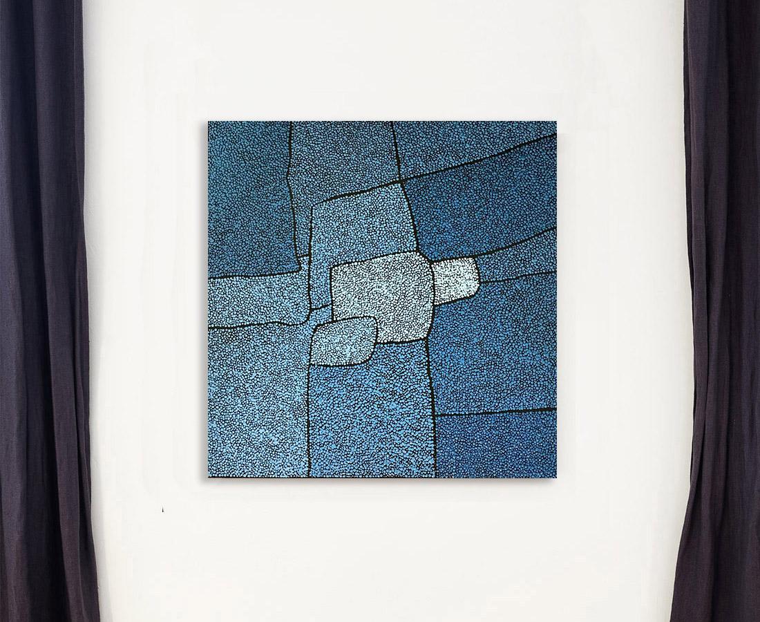 Peinture - Sans titre petit bleu - Marjolaine de La Chapelle