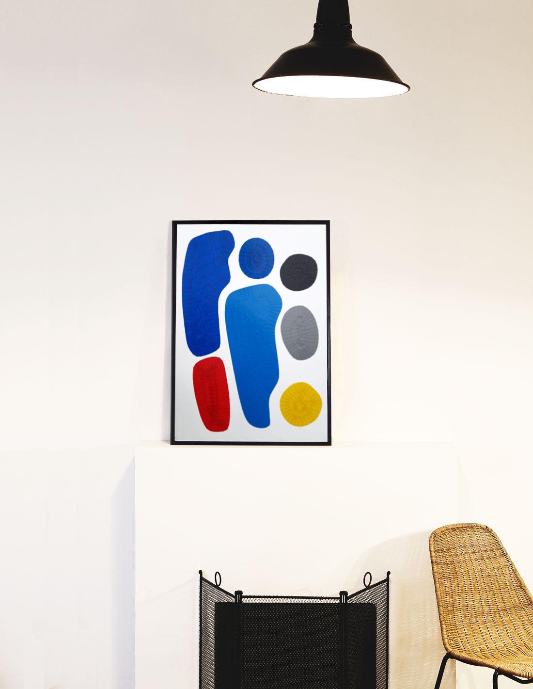Oeuvre sur papier - Marc Dutilleul - Se tenir chaud