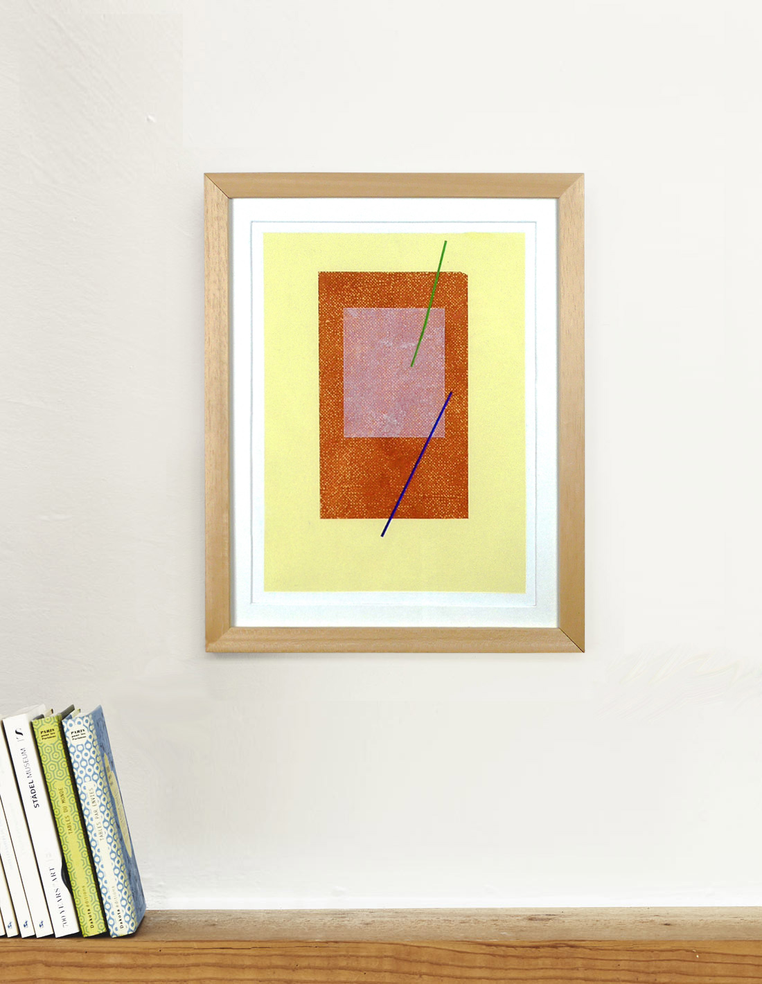 Carlos Stoffel - Tableau - Jaune rectangle orange