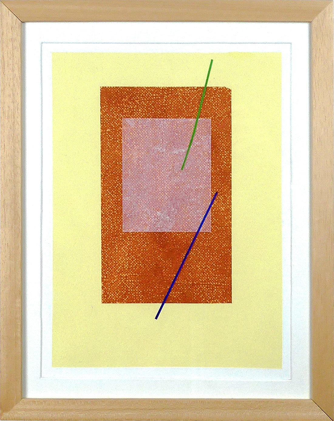 Carlos Stoffel - Tableau - Jaune rectangle orange