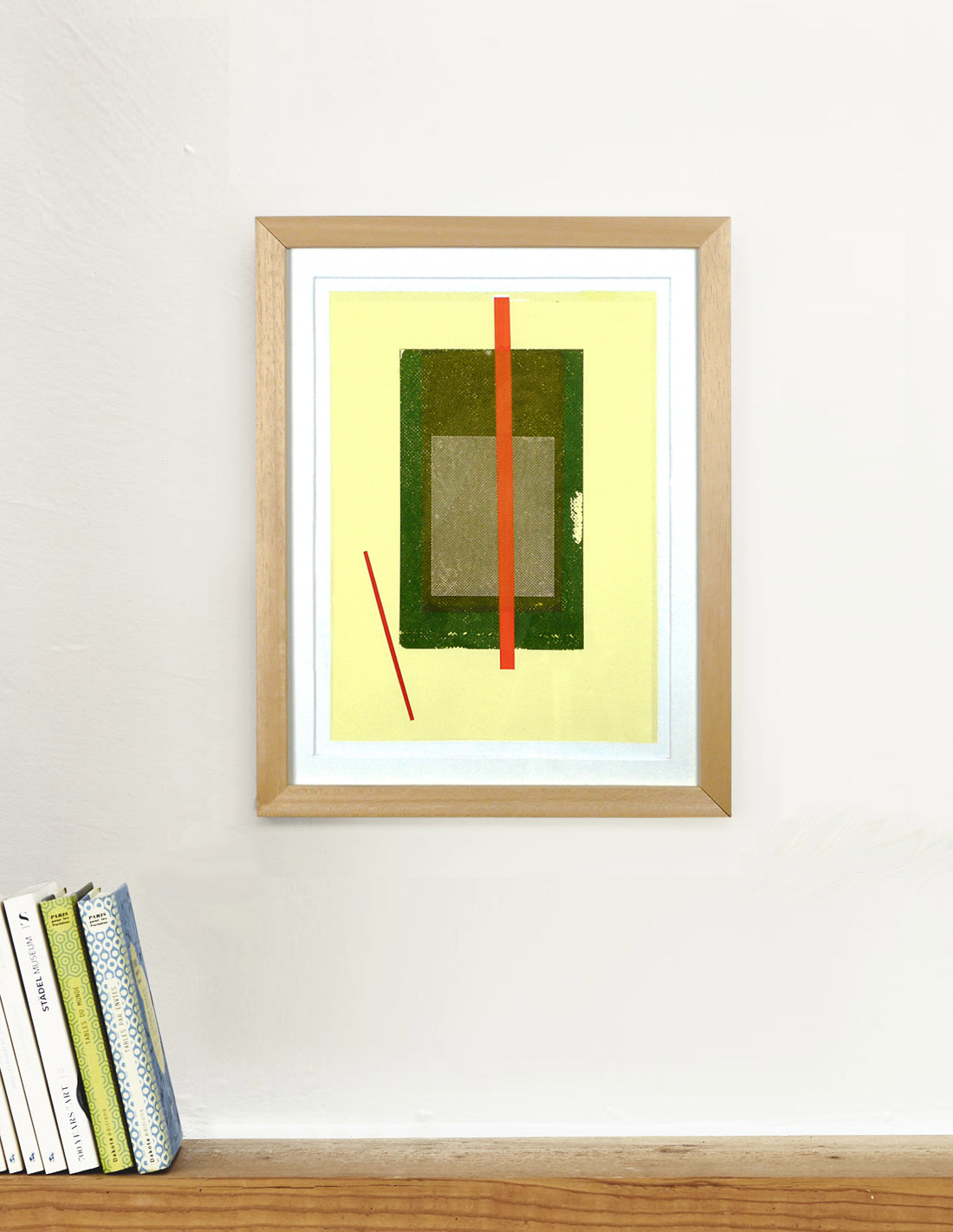 Carlos Stoffel - Tableau - Jaune rectangle vert