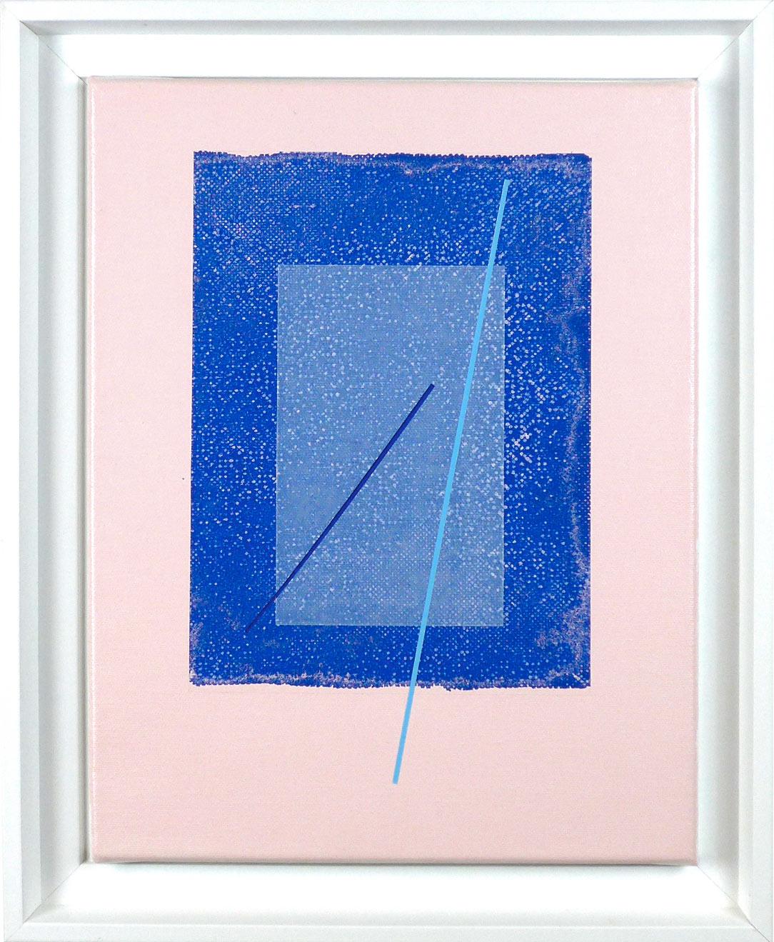 Carlos Stoffel - Tableau - Rose carré bleu