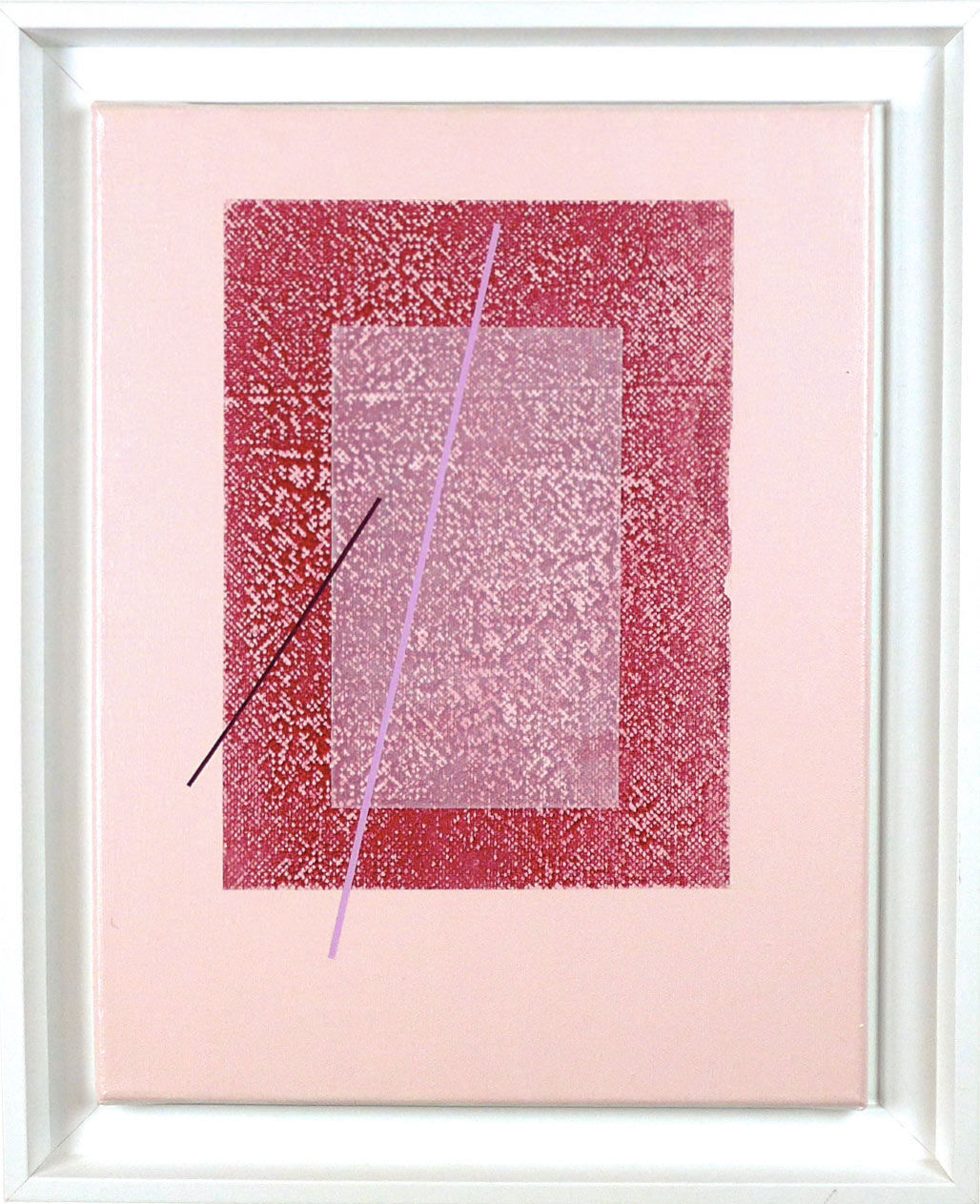 Carlos Stoffel - Tableau - Rose carré rouge