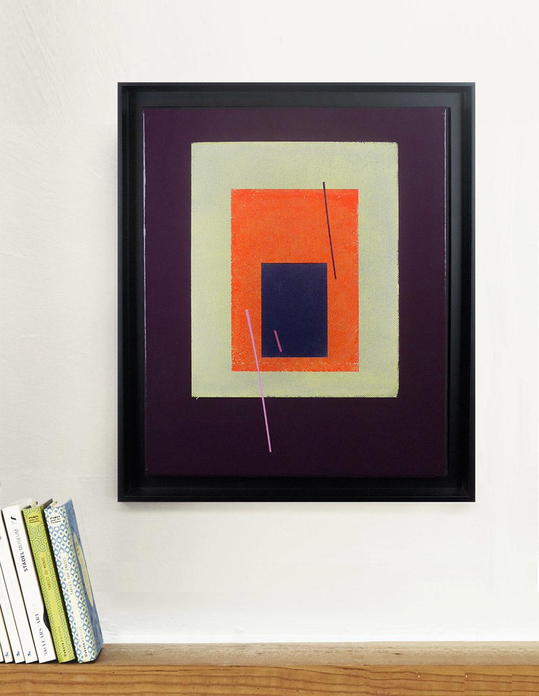 Carlos Stoffel - Tableau - Violet carré orange