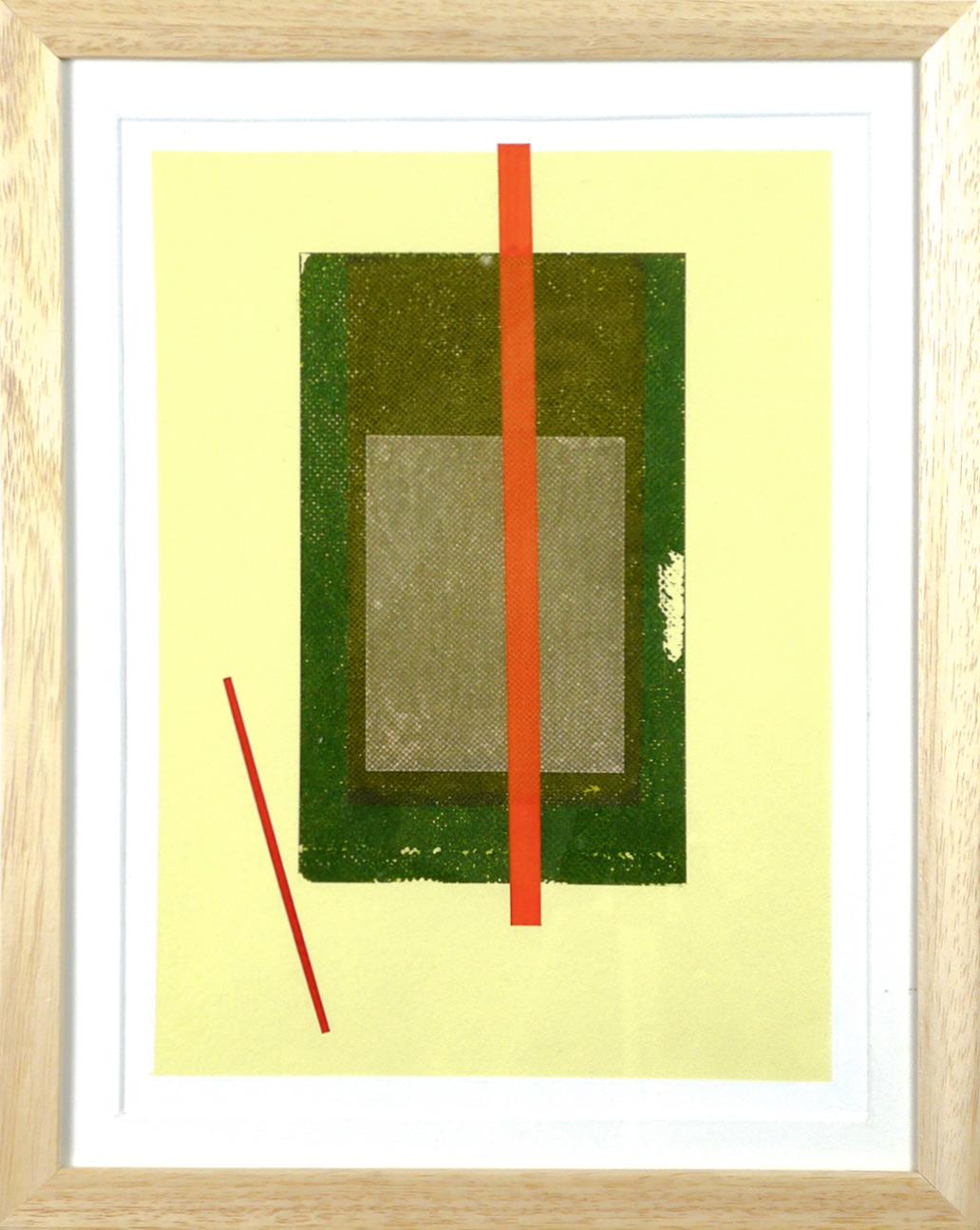 Carlos Stoffel - Tableau - Jaune rectangle vert