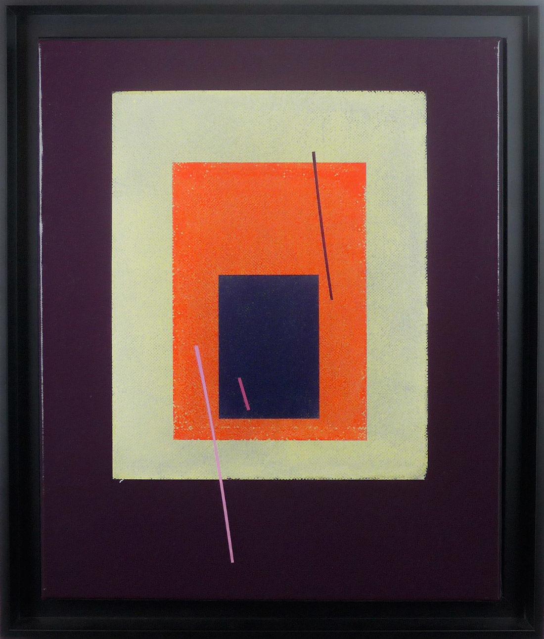 CarloCarlos Stoffel - Tableau - Violet carré oranges Stoffel - Sans titre violet carré orange