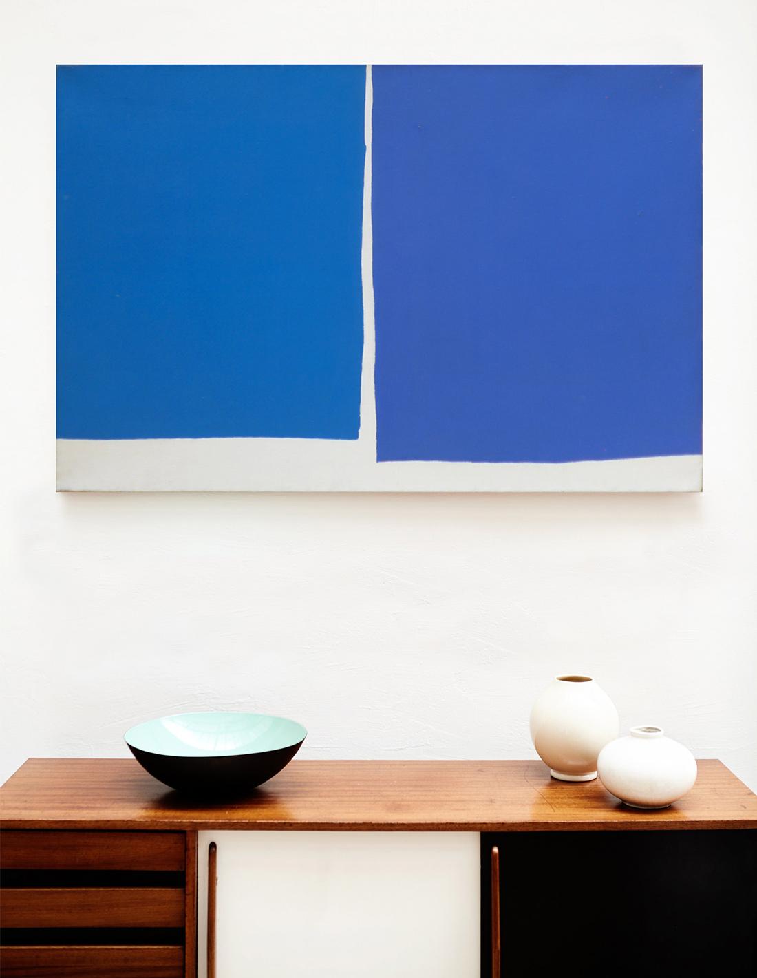 Raquel Levy - Tableau - Sans titre (grand bleu)