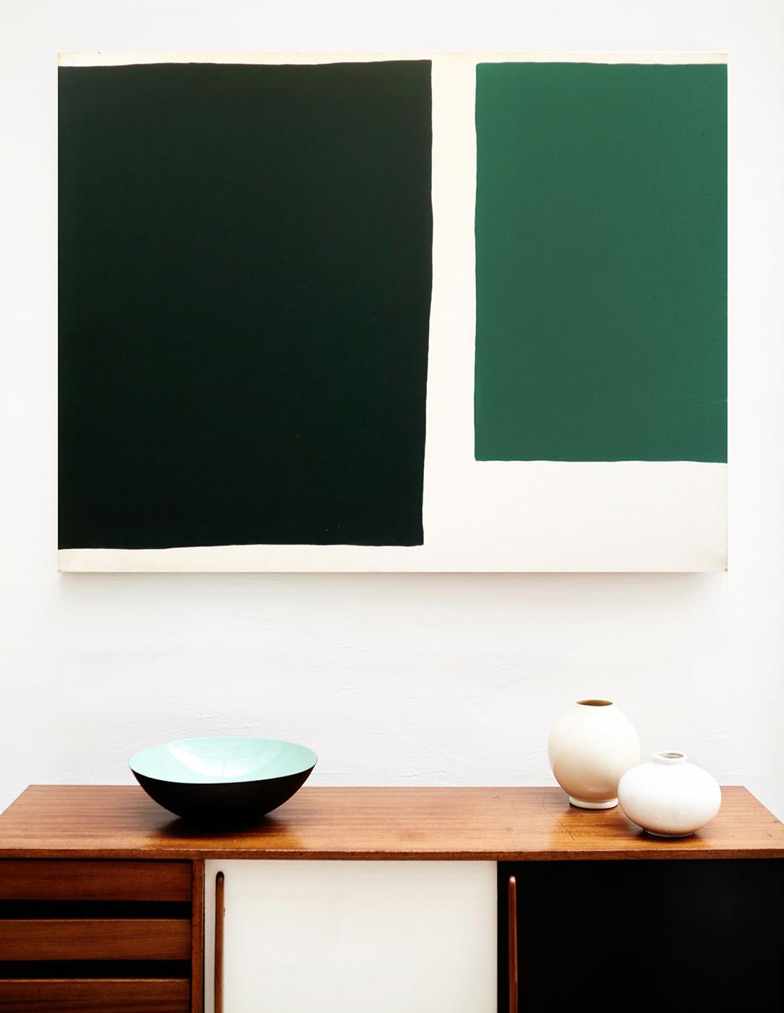 Raquel Levy - Tableau - Sans titre (grand vert)