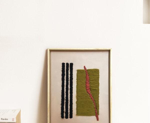 Kanica - Tableau - Small noir marron rouge
