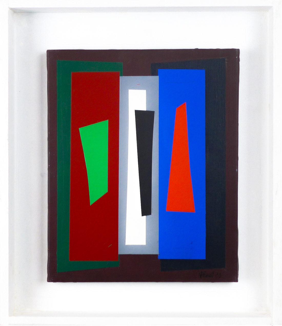 Joël Froment - Tableau - Sans titre (vert et rouge)