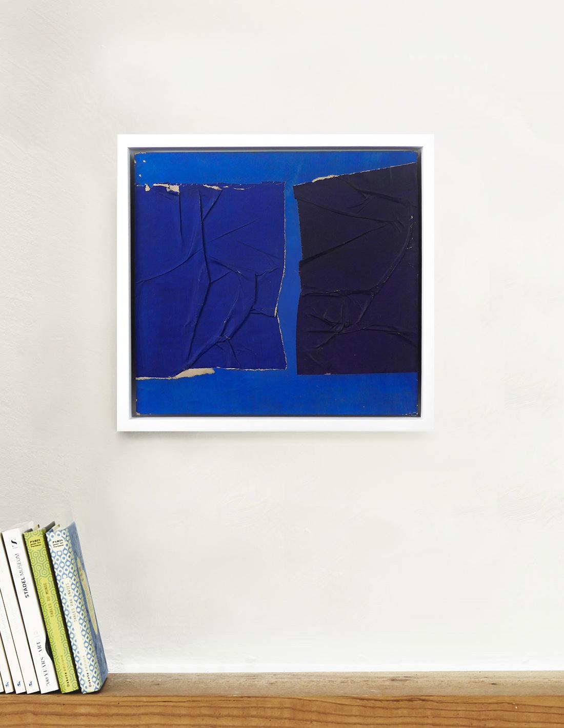 Raquel Levy - Tableau - Papiers froissés bleus II