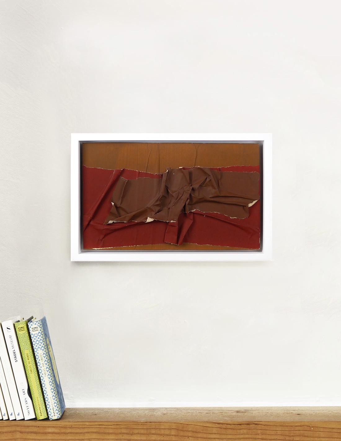 Raquel Levy - Tableau - Papiers froissés marrons