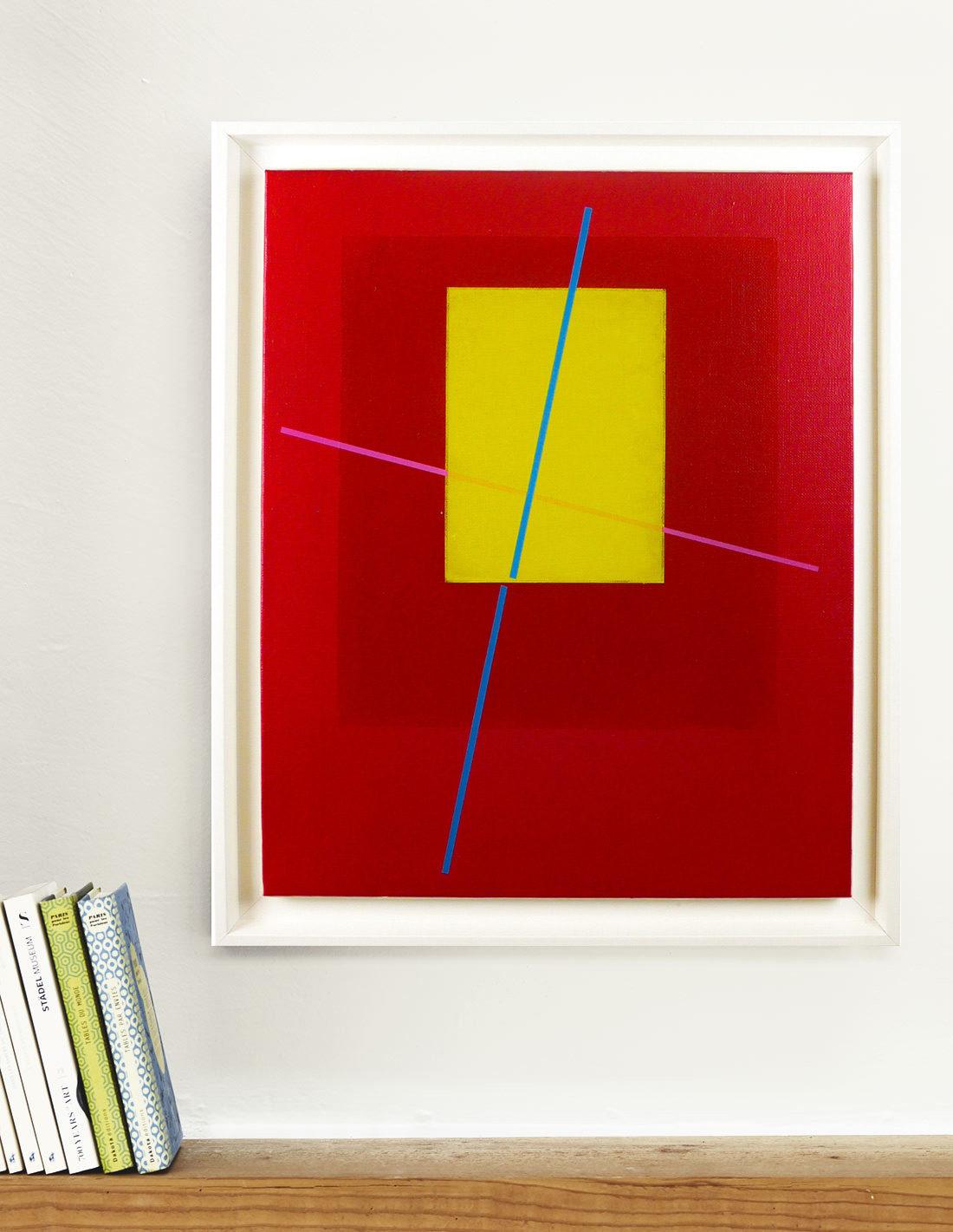Carlos Stoffel, Peinture, Rose et rectangle j