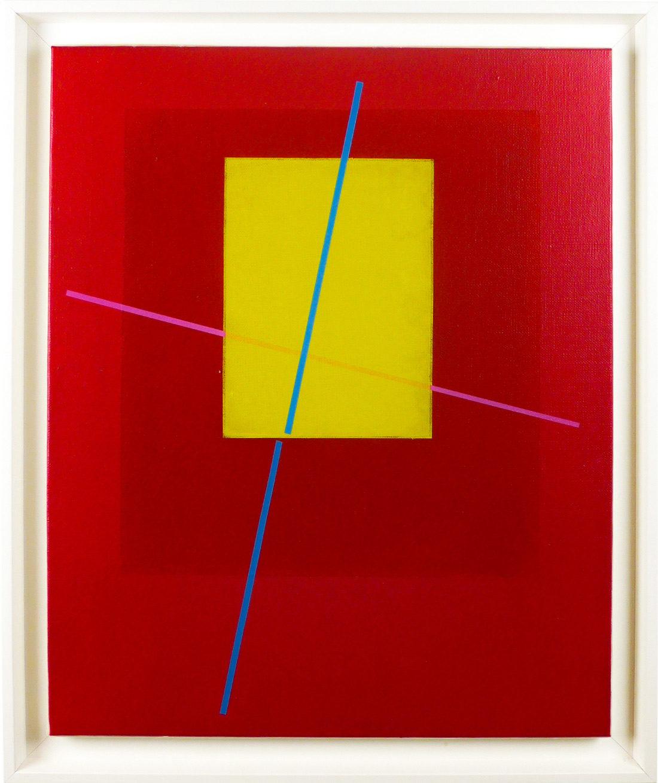 Carlos Stoffel, Peinture, Rose et rectangle
