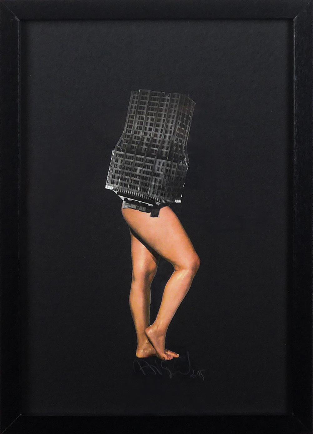 Anne-Laure Maison - Collage .- femme-Maison Brutalisme
