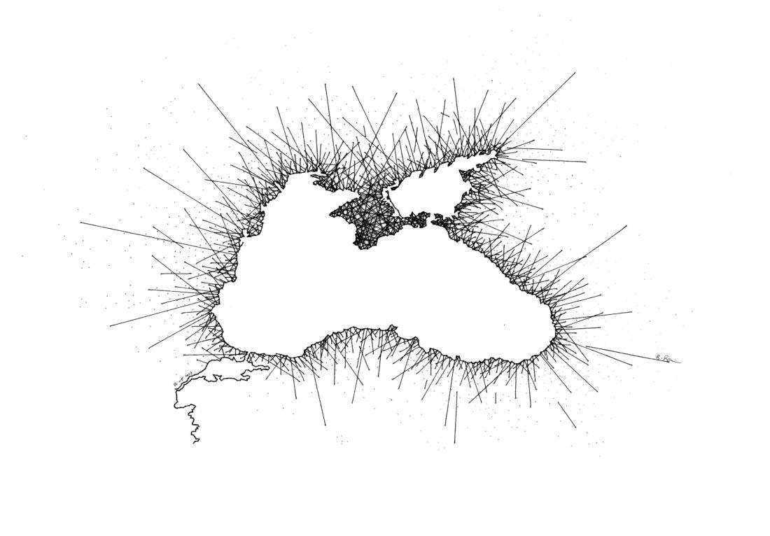 La Mer Noire 53x43 cm
