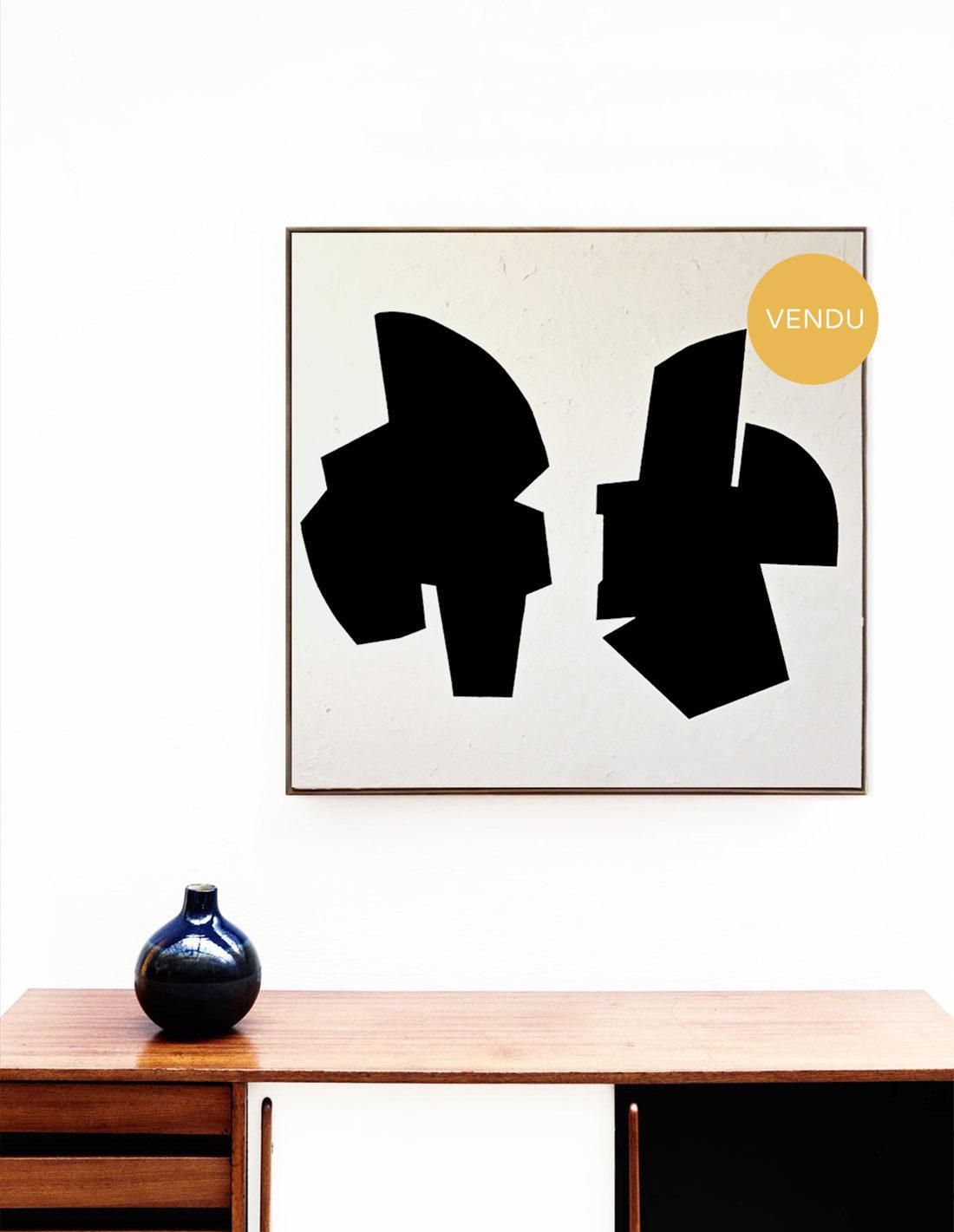Audrey Noël - tableau - Deux formes noires