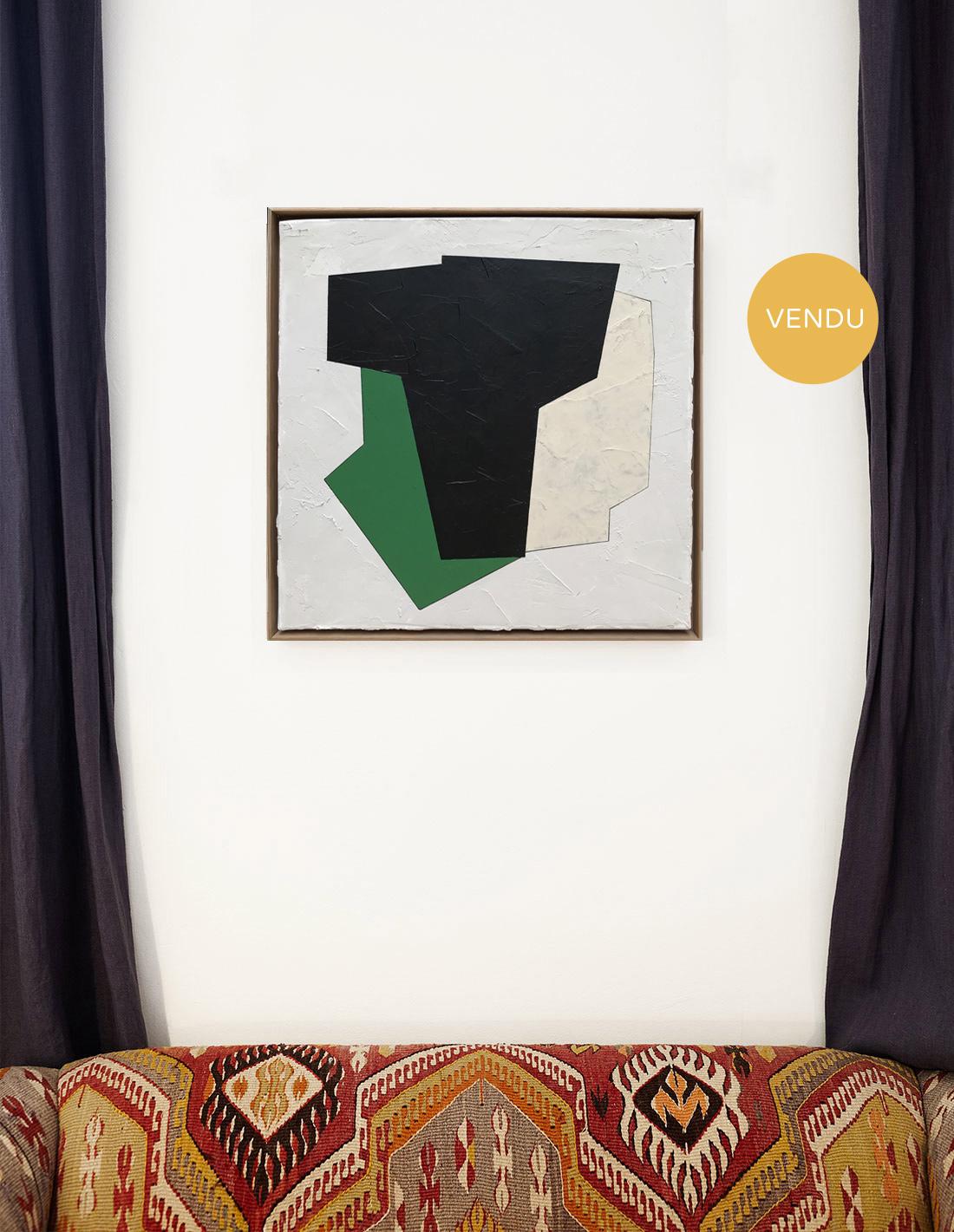 Audrey Noël - Tableau - Sans titre carré vert