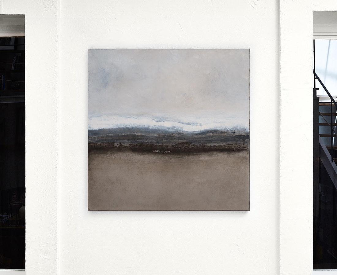 Terre brûlée - Tableau de Hélène Leroy