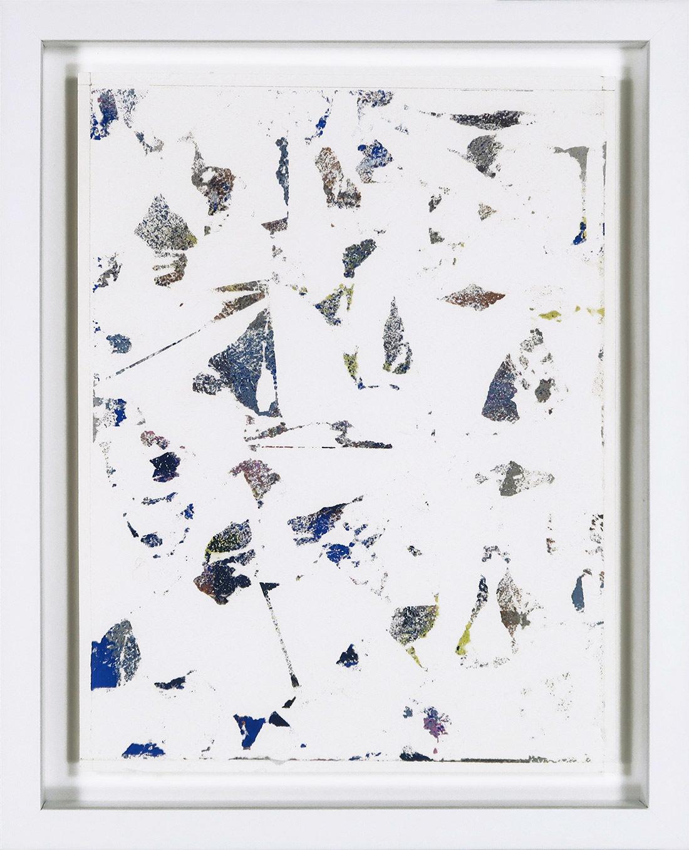Laurent Karagueuzian - Oeuvre sur papier - Papiers écorchés no 207