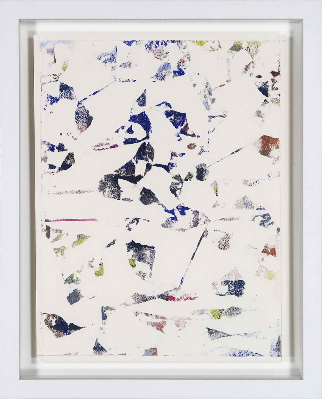 Laurent Karagueuzian - Oeuvre sur papier - Papiers écorchés no 208