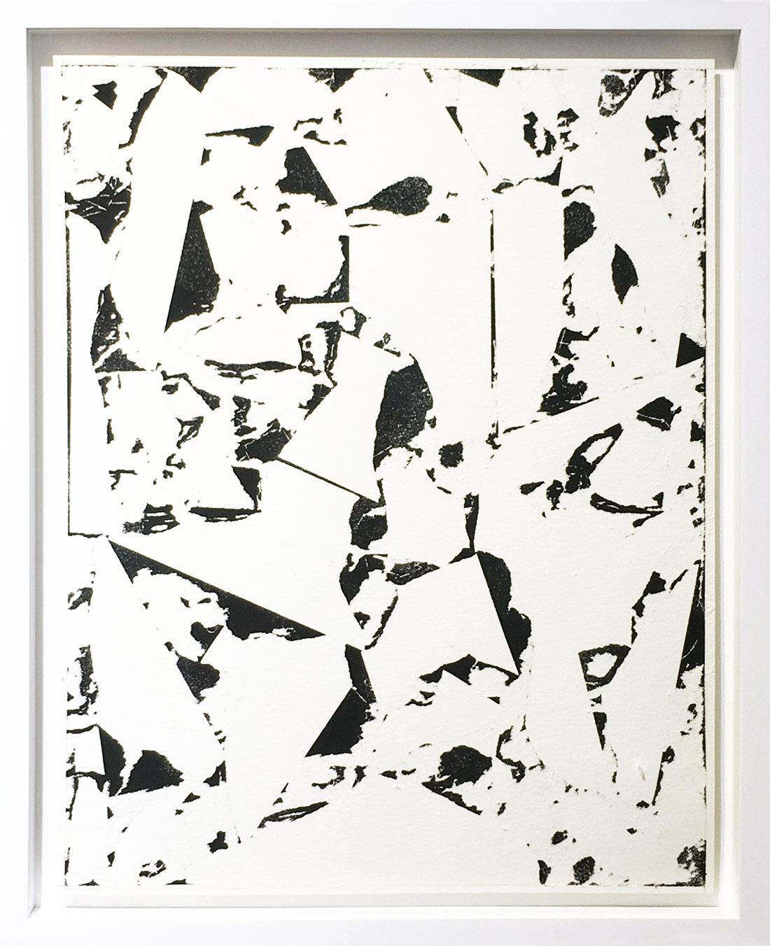 Laurent Karagueuzian - Oeuvre sur papier - Papiers écorchés no 218