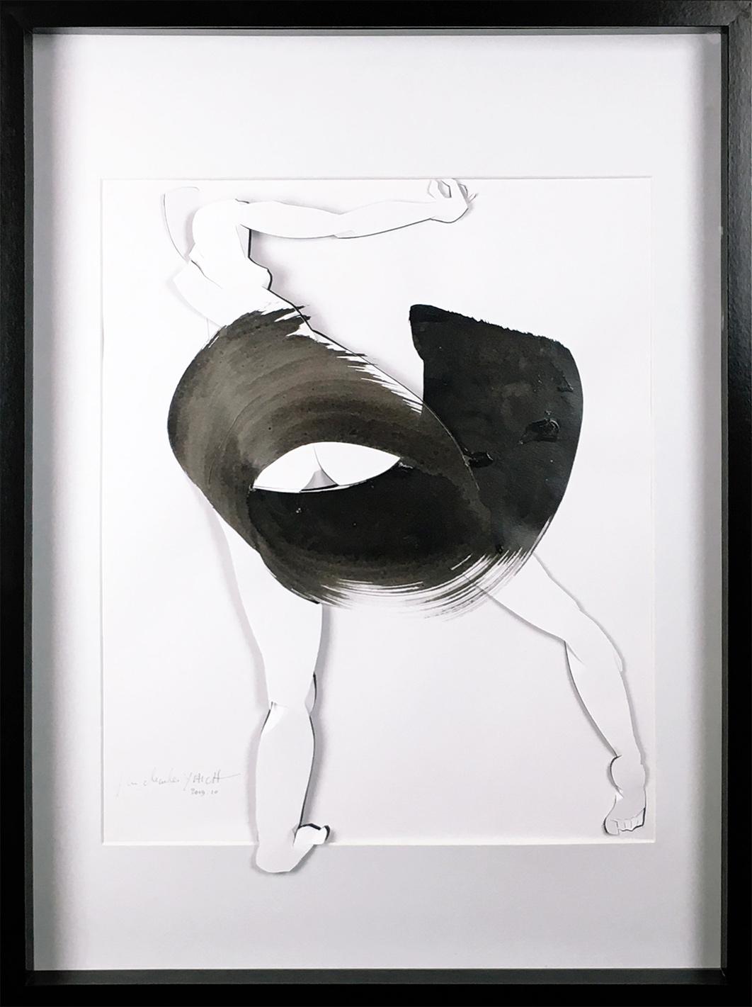 Jea Charles Yaïch - Oeuvre sur papier - Grand kirigami calligrahie
