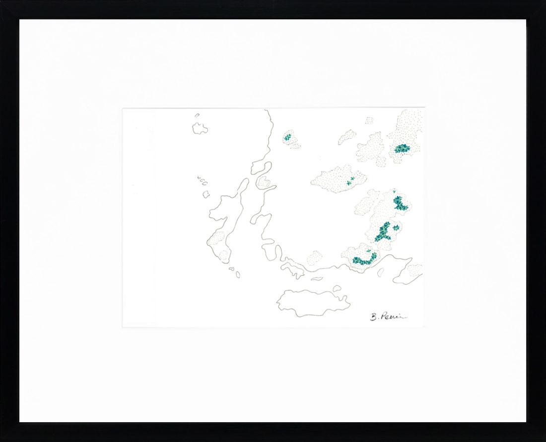 Baptiste Penin - Tableau couture - Pour les îles chausay