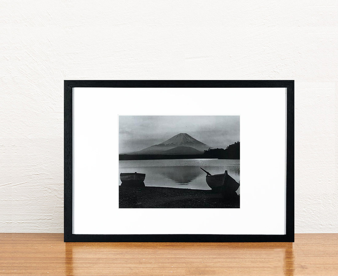 Mont Fuji noir et blanc 30x40