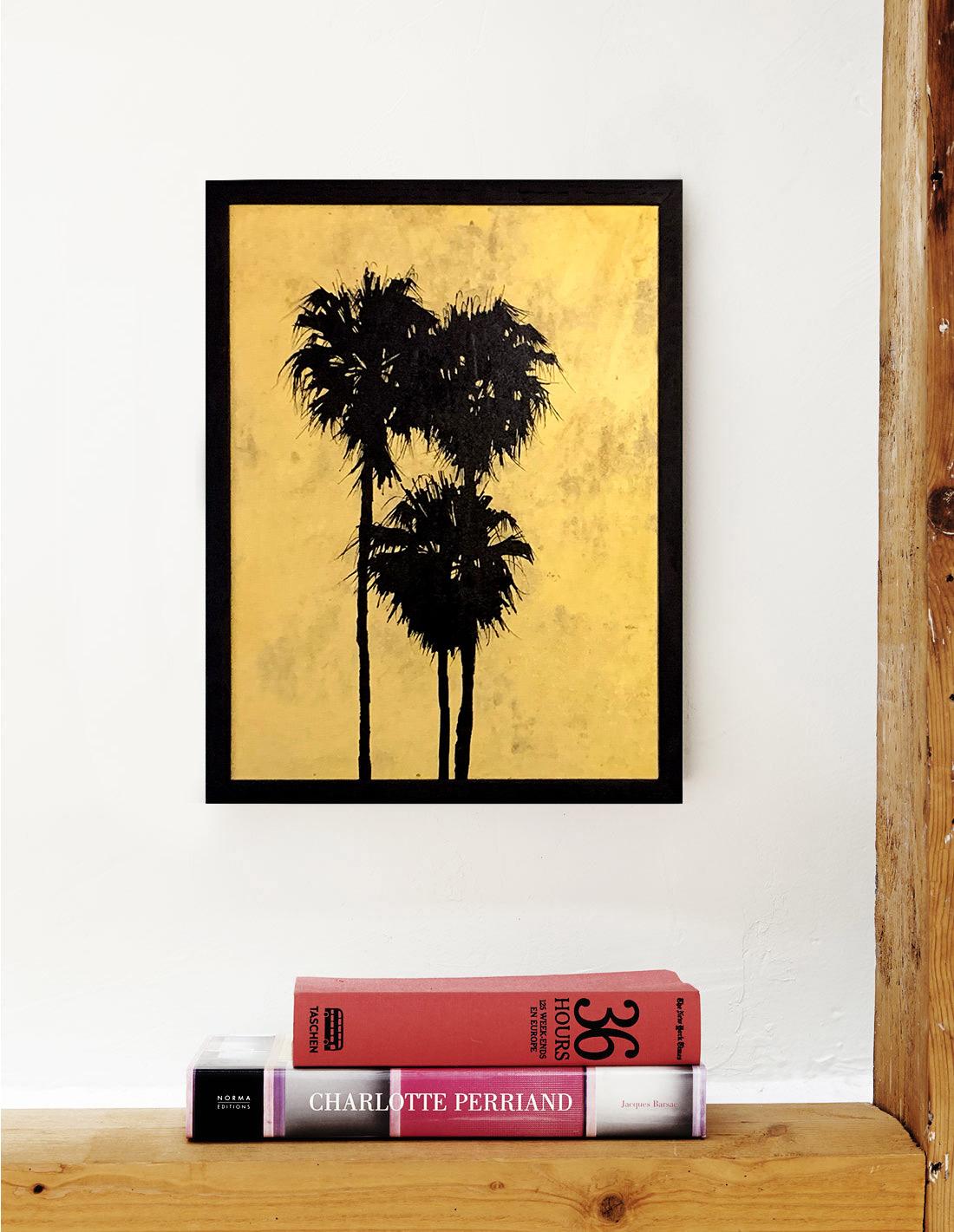 Hubert Jouzeau - Tableau - Moyens palmtrees