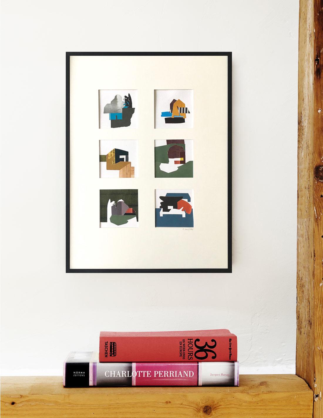 Pascaline Sauzay - Collage - Six variations imaginaires 5