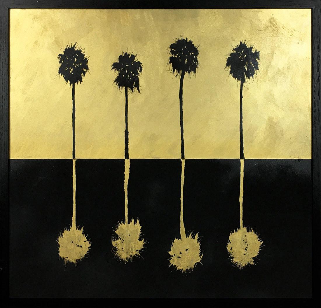 Hubert jouzeau - Tableau - Grands palmtrees