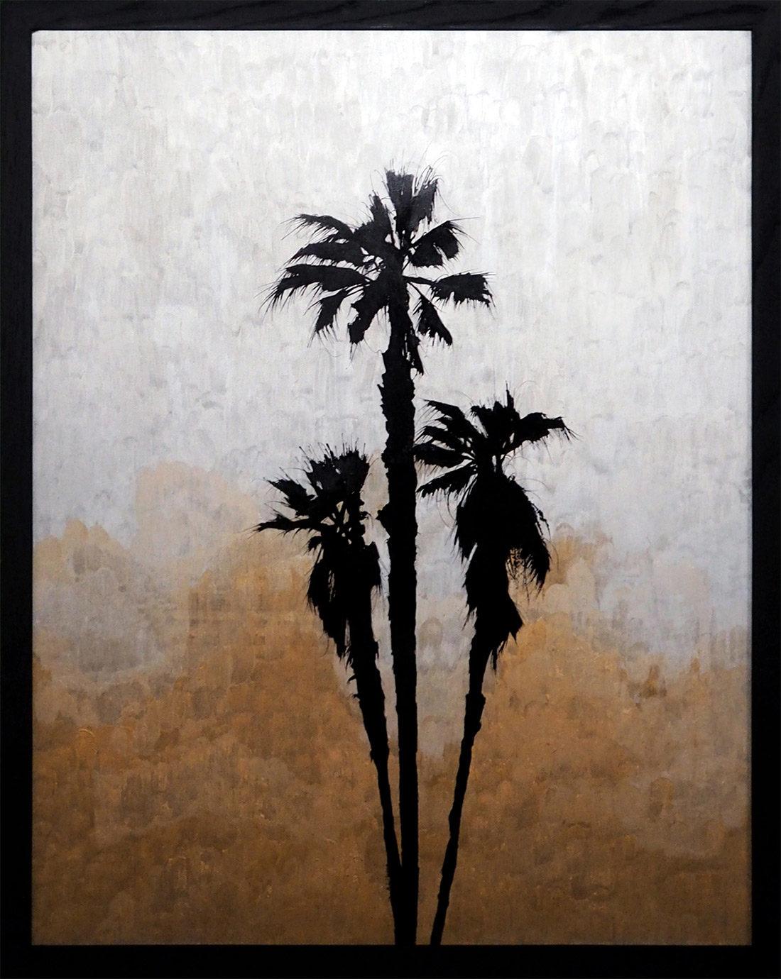 Hubert Jouzeau - Peinture acrylique - Palmtree