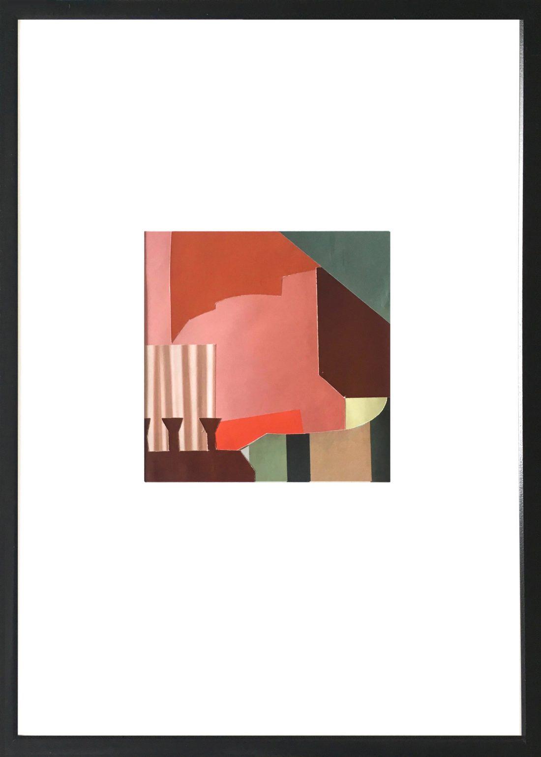 Pascaline Sauzay - Collage - Variation imaginaire 5