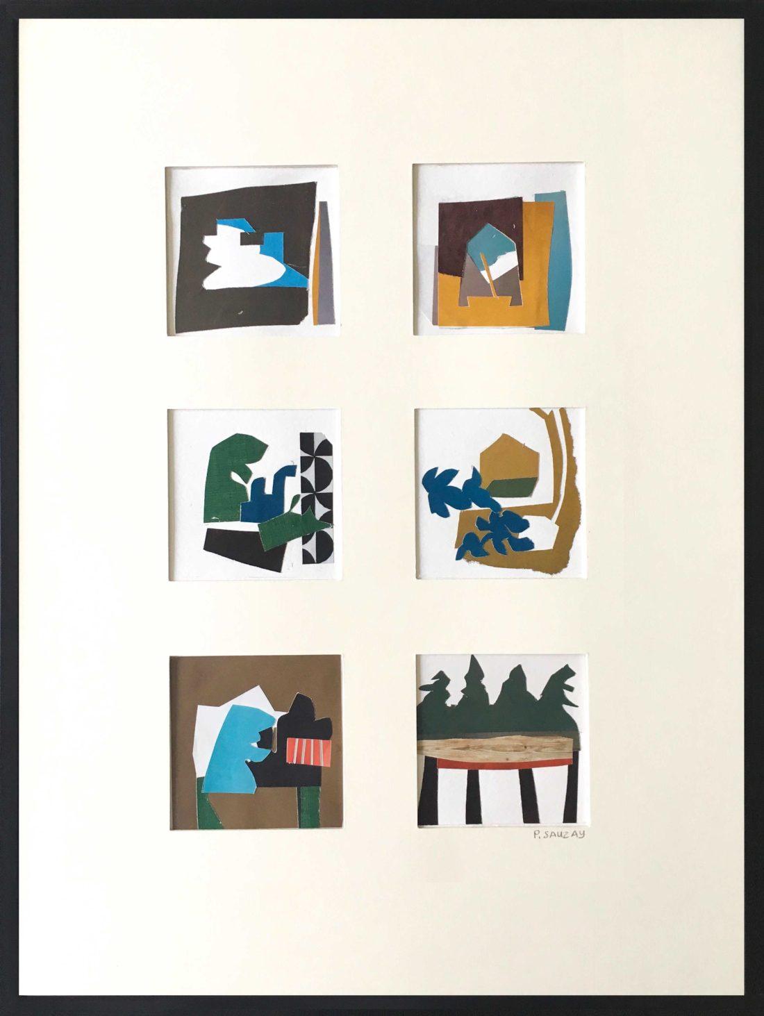 Pascaline Sauzay - Collage - Six variations imaginaires 4