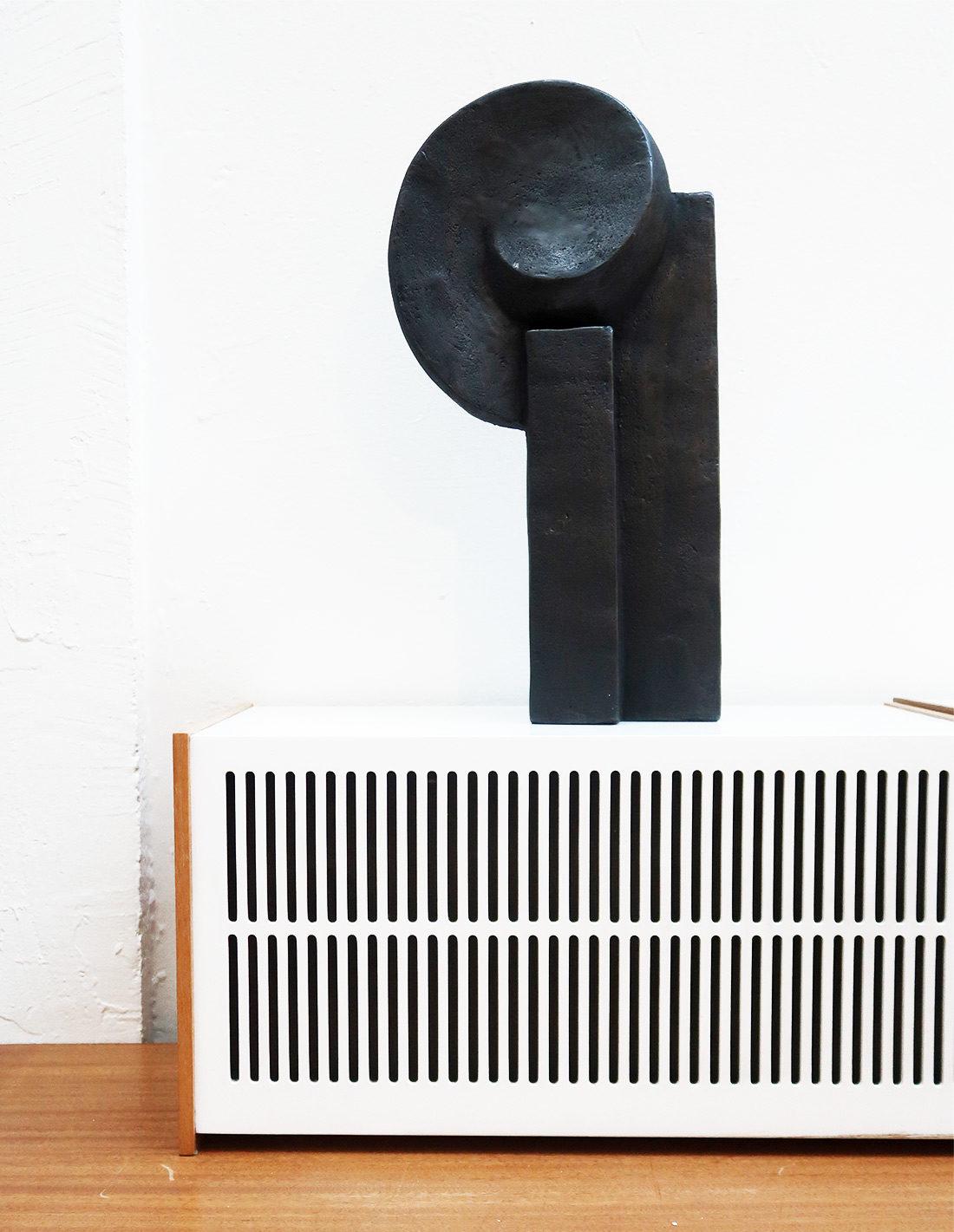 Patricia Zieseniss - Sculpture - Ami (noir)